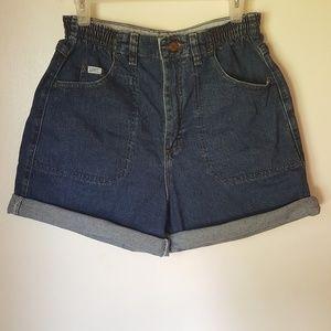 Lee High Waist Mom Denim Shorts